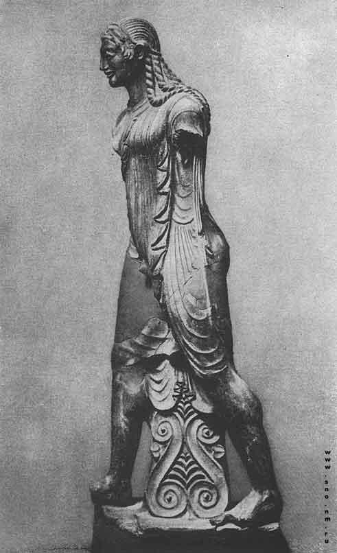 Терракотовая статуя аполлона из вей